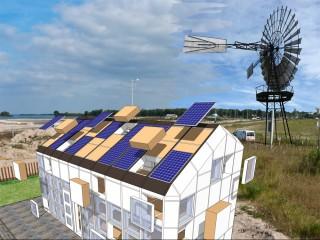 WikiHouse Village Zon en Wind Energie