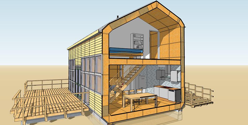 New_House_doorsnede_keuken_slaapkamer