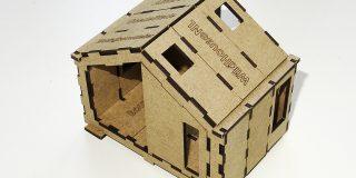 WikiHouse bouwplaat schaalmodel