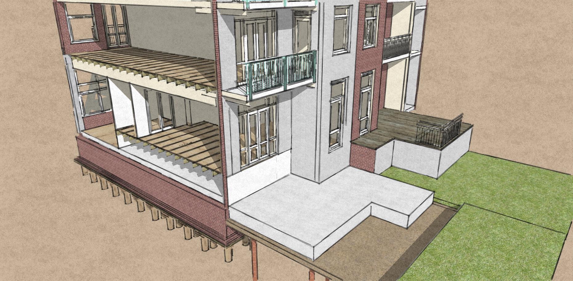 Uitbouw woning amsterdam oud west jan willem de groot - Trap voor daken ...