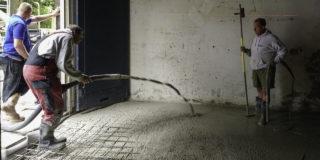 Vrijdragende betonvloer + sanering grond